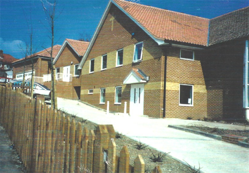 Newly completed Selsdon Baptist Halls in 1996